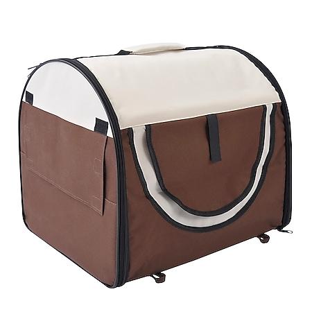 PawHut Hundetransportbox in Größe M M: 61 x 46 x 51 cm (LxBxH)   Hundebox Transportbox faltbar Hundetransportbox - Bild 1