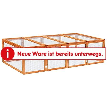 PawHut Freilaufgehege natur 181 x 100 x 48 cm (LxBxH)   Freigehege Hasenstall Kleintier-Gehege Auslaufkäfig - Bild 1