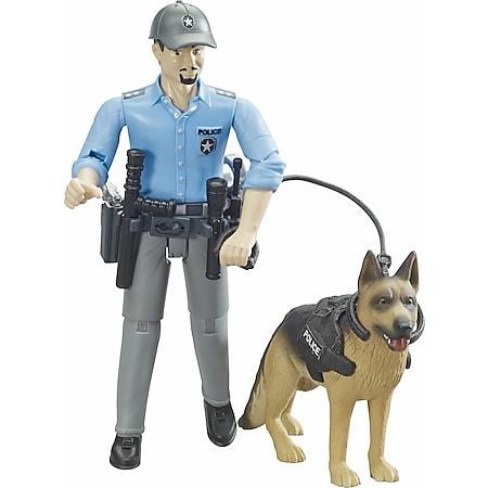 bruder 62150 bworld Polizist mit Hund - Bild 1