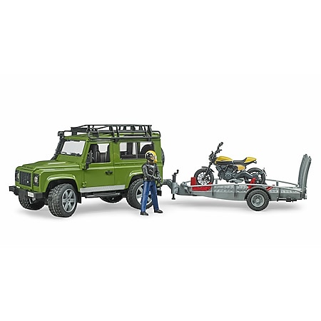 bruder 02589 Land Rover Defender mit Anhänger - Bild 1