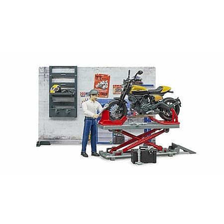 bruder 62102 bworld Motorradwerkstatt ScramblerDucati - Bild 1