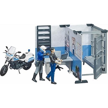 bruder 62732 bworld Polizeistation mit Polizeimotorrad - Bild 1