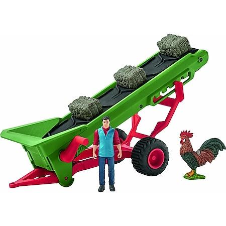 Schleich® Farm World Schleich Farm World 42377 Heuförderband mit Bauer - Bild 1