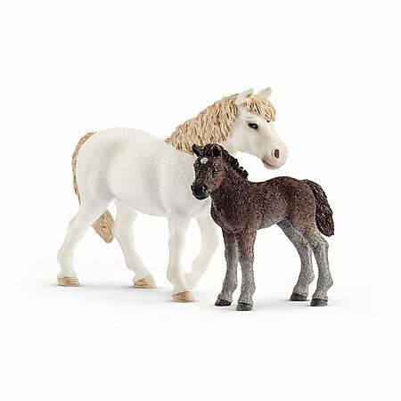 Schleich® Farm World Schleich 42423 Farm World Pony Stute und Fohlen - Bild 1