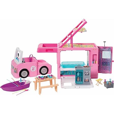 Barbie Mattel GHL93  3-in-1 Super Abenteuer-Camper mit Zubehör - Bild 1