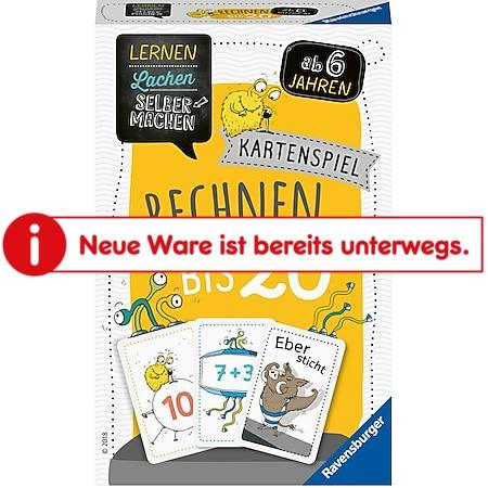 Ravensburger 80349 Lernen Lachen Selbermachen: Kartenspiel Rechnen bis 20 - Bild 1