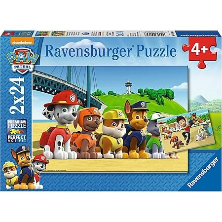 Ravensburger 09064 Puzzle Paw Patrol Heldenhafte Hunde 2 x 24 Teile - Bild 1