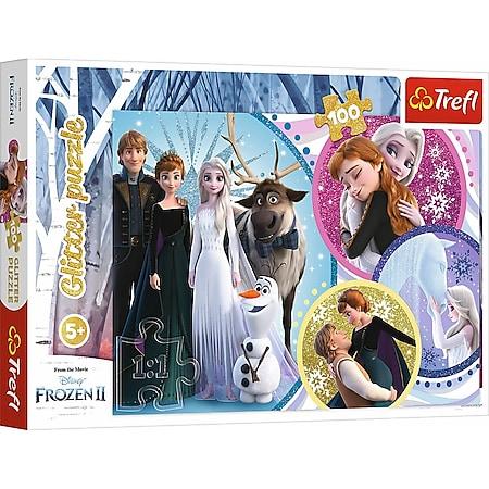 TREFL Glitzer Puzzle 100 # Disney Frozen - Bild 1