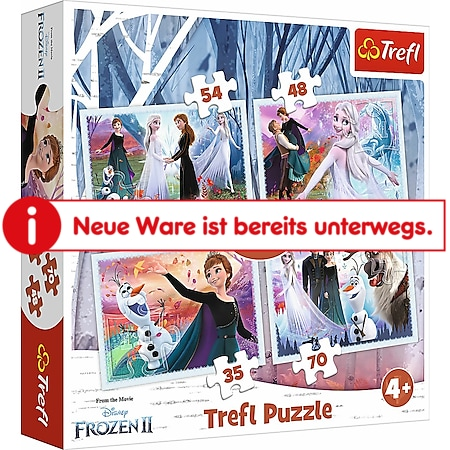 TREFL 4 in 1 Puzzle # Disney Frozen - Bild 1