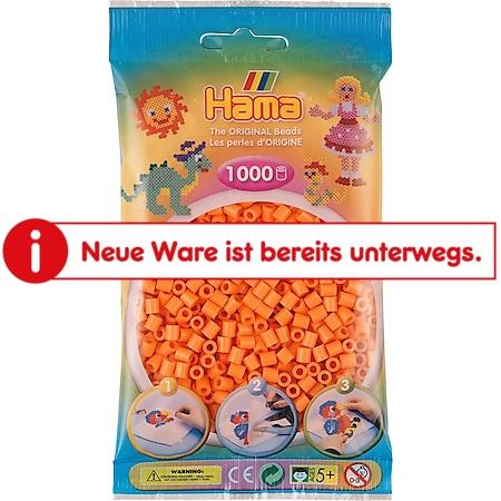 HAMA Beutel mit Perlen Apricot 1000 Stück - Bild 1