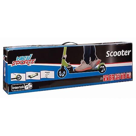 New Sports Scooter Grün/Schwarz, 125 mm, ABEC 7 - Bild 1