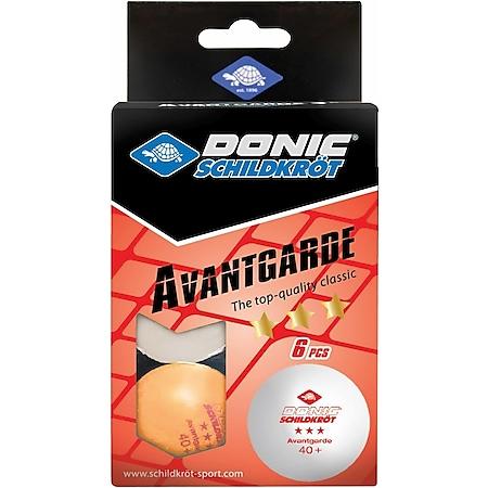 Donic-Schildkröt TT-Ball 3-Stern AVANTGARDE POLY 40+, mixed 3 white/ 3orange - Bild 1