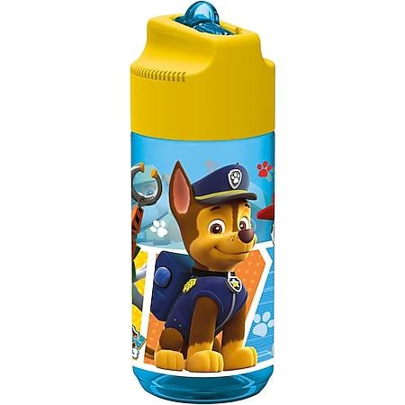 Paw Patrol p:os 28230 , Trinkflasche mit integrierte Trinkhalm, 430 ml - Bild 1