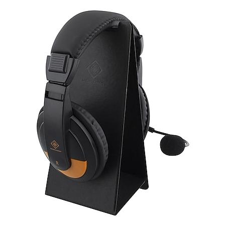 DELTACO GAMING Universal-Kopfhörer-Klappständer (Headset, leicht, Design, Kunstleder) - Bild 1