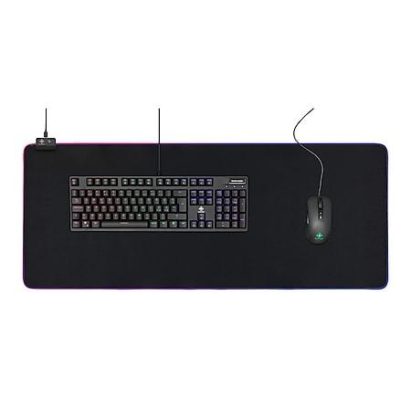 DELTACO GAMING Extra Großes RGB Mauspad (900x360x4mm, 6 x RGB-Modi, 7 x Static-Modi) - Bild 1