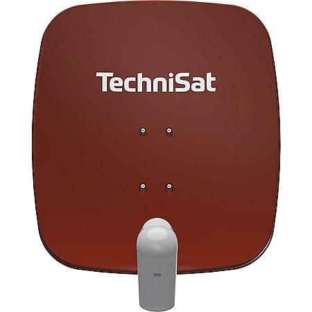 2465/8880 TechniSat SATMAN 65 PLUS UNYSAT-Universal-Quattro-LNB (DigitalSat-Antenne, Aluminium, Quattro-LNB) ziegelrot - Bild 1