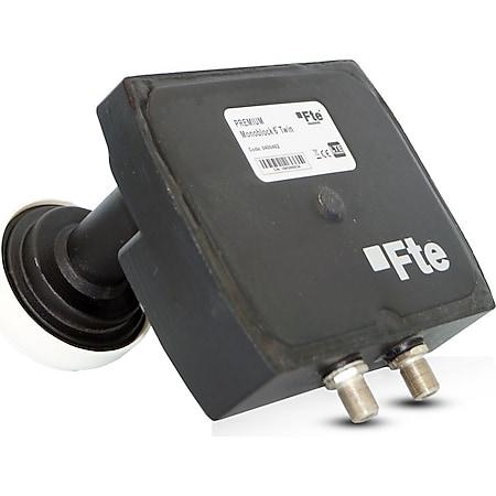 Fte maximal Premium Monoblock Twin LNB Sat-Antenne (Zwei-Satelliten-Positionen, HD 1080, 3D, 4G LTE Filter, UHD) - Bild 1