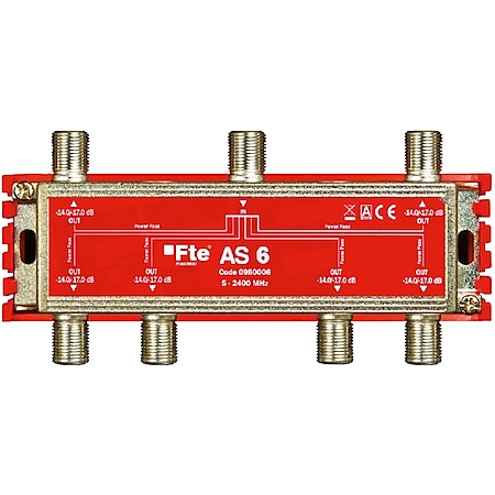 Fte maximal AS 6 TV-Signal Verteiler (Breitbandverteiler, 6-Ausgänge, 5-2400 MHz, Classe A, F-Anschluss, Schirmungsmaß: > 100 dB) - Bild 1