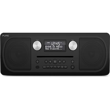 Pure Evoke C-D6, Siena Black, EU/UK DAB+, UKW & Internetradio, CD, Bluetooth, Stereo-Musikanlage - Bild 1