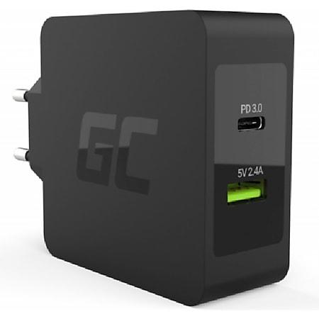 Green Cell USB-C Power Delivery 45W Ladegerät Schnellladefunktion (inkl. USB-C-Kabel, 1x USB-C, 1x USB, Breite Anwendung, Moderne Technologie) - Bild 1