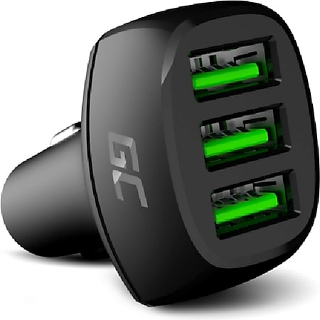 Green Cell In-Car Charger PowerRide 54W Auto-Ladegerät (3x USB, 18W USB-A, mit Ultra Charge-Schnellladetechnologie, bis zu 3,5-mal schneller) - Bild 1
