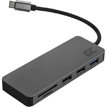 Green Cell Docking Station HUB 7in1 Adapter (USB-C mit Power Delivery, USB 3.0, 2xUSB 2.0, HDMI 4K, microSD, SD) - Bild 1