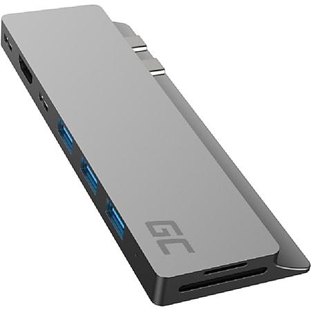 Green Cell Docking Station HUB Connect60 8in1 Adapter (Thunderbolt 3, USB-C, 3x USB-A, HDMI, SD, microSD-Kartenleser, für MacBook Pro und mehr) - Bild 1