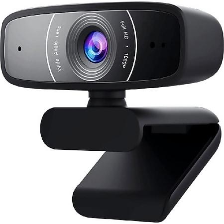ASUS Webcam C3 Full HD USB-Kamera (1080p-Auflösung, 30 FPS, Beamforming-Mikrofon, 360° Drehmechanismus, kompatibel mit Skype, Teams und Zoom) - Bild 1