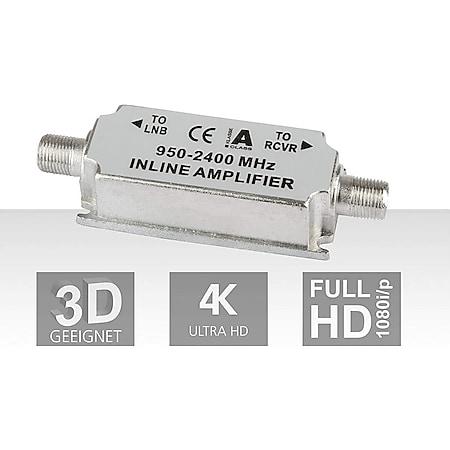 DIGITALBOX Inline-Verstärker, 20dB, silber-weiß (Inline-Verstärker) - Bild 1