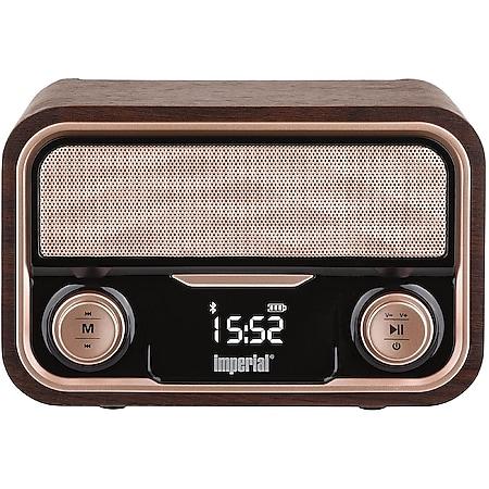 IMPERIAL BEATSMAN RETRO Stereo-Lautsprecher (Bluetooth, USB Anschluss, Micro-SD Kartenleser, Retro-Optik, 2000 mAH, Lithium Akku) - Bild 1