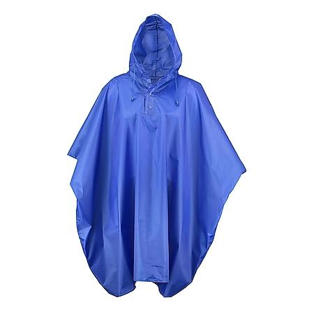 Regenponcho mit Reflektor auf Rückseite... Blau - Bild 1