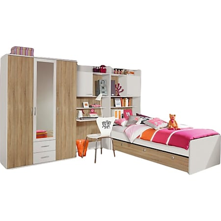 Kinderzimmer Silke 2 4-teilig B 317 cm Weiß - Eiche-Sonoma - Bild 1