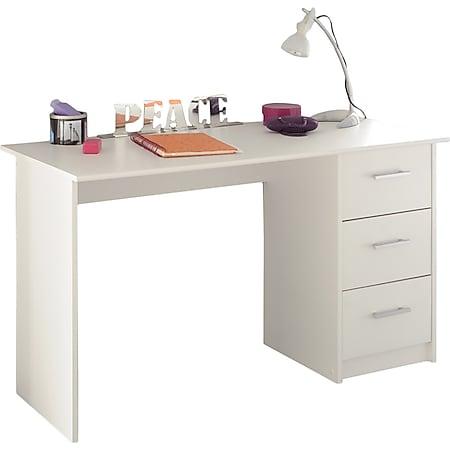 Schreibtisch Infinity mit 3 geräumigen Schubladen 121 x 55 cm Parisot weiß - Bild 1