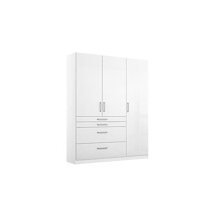 Kleiderschrank Lauri 3-trg weiß hochglanz B 136 cm - H 197 cm - T 54 cm - Bild 1