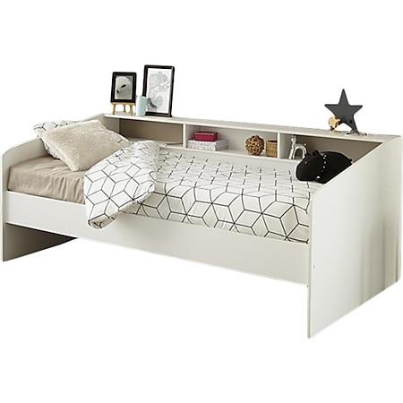 Funktionsbett Sleep Parisot inklusive Regalrückwand weiß 90*200 cm - Bild 1