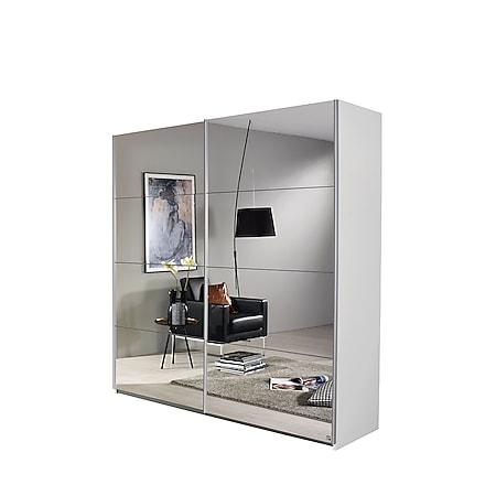 Schwebetürenschrank Bill weiß 2 Spiegeltüren B 181 cm - Bild 1