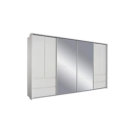 Dreh-Schwebetürenschrank Ben weiß 6 Türen B 368 cm - Bild 1
