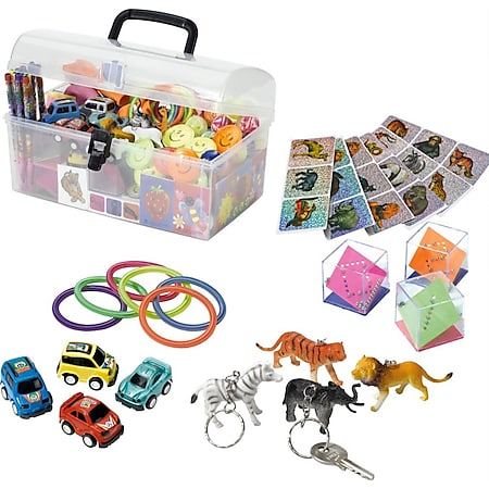 Spielesammlung Spielzeugsammlung Spielekiste Spielebox 282 Teile transparente Box - Bild 1