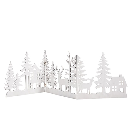 Weihnachts-Silhouette Waldzauber Weiß - Bild 1