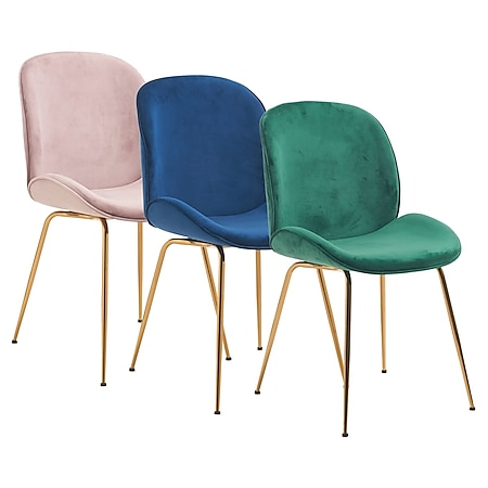 Stuhl Lio Blau/Goldfarben - Bild 1