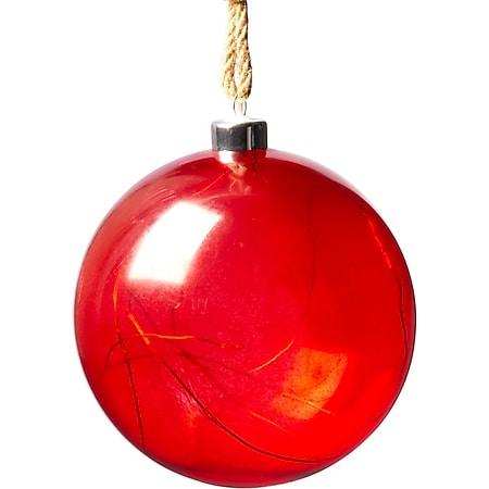 LED-Deko-Objekt Weihnachtskugel Rot - Bild 1