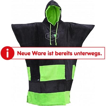 ALL IN V Poncho Farbe: Black / Green - Bild 1