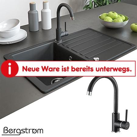 Armatur Küchenarmatur Spülenarmatur Wasserhahn Mischbatterie Spüle Küche schwarz - Bild 1