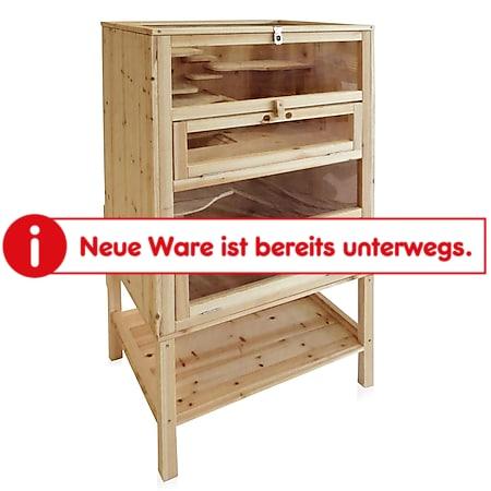 Hamsterkäfig Nagerstall Kleintierkäfig Mäusekäfig Rattenkäfig Stall Holz - Bild 1