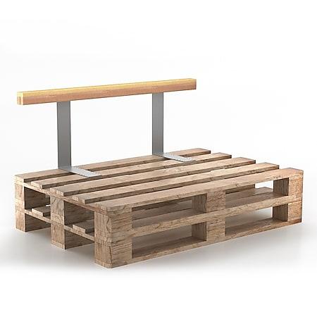 Holzlehne Lehne für Palettenkissen 110 cm Rückenlehne Palettenlehne Seitenlehne Palettensofalehne - Bild 1