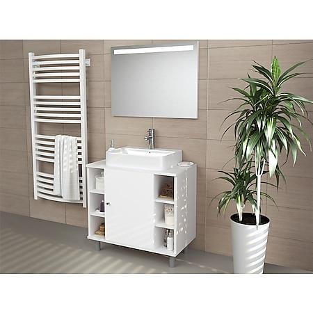 VICCO Waschbeckenunterschrank FYNN Weiß - Badmöbel Badschrank Unterschrank - Bild 1
