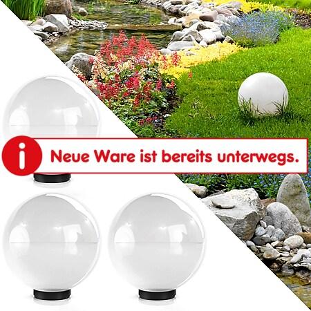 3er Set Kugelleuchte Lichtkugel Kugellampe Gartenleuchte Gartenlampe 40cm - Bild 1