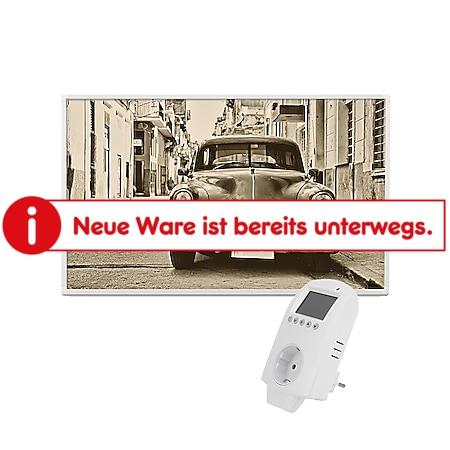 Eldstad Infrarotheizung Bildheizung Infrarot Elektro Heizung Motiv Auto 600W mit Thermostat - Bild 1