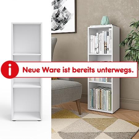 VICCO Bücherregal weiß Regal Holzregal Schrank Wandregal Büroregal Aktenregal - Bild 1