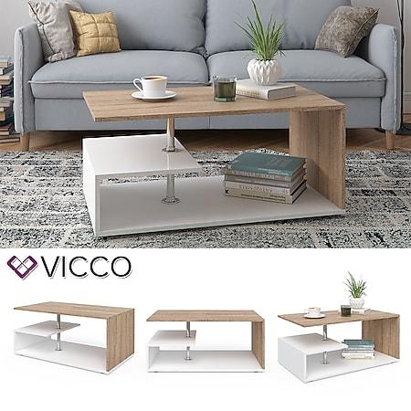 VICCO Couchtisch GUILLERMO - Wohnzimmertisch Sofatisch Tisch 4 Farbvarianten - Bild 1
